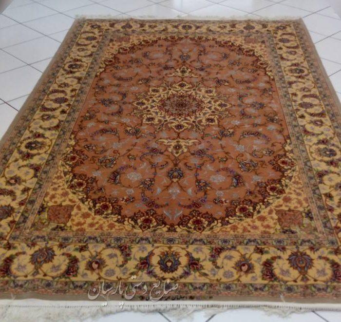 قیمت جفت فرش دستبافت کرک ابریشم 6 متری اصفهان