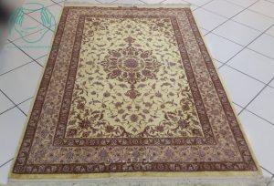 قیمت قالیچه ابریشم طلایی اصفهان
