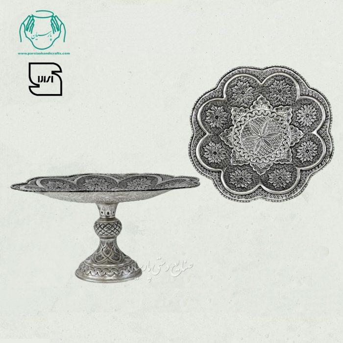 شیرینی خوری قلمزنی آبکاری نقره سیاه قلم اصفهان