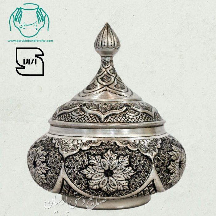 قیمت خرید فروش شکلات خوری قلمزنی نقره سیاه قلم صنایع دستی اصفهان