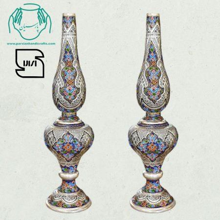 قیمت خرید فروش بازار جفت گردسوز مسی تلفیق هنر قلمزنی مینیاتور