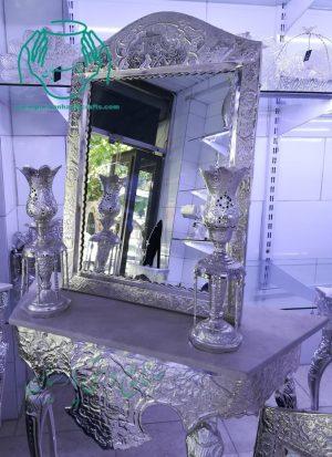 لیست قیمت خرید فروش آینه و لاله قلمزنی آبکاری نقره سفید