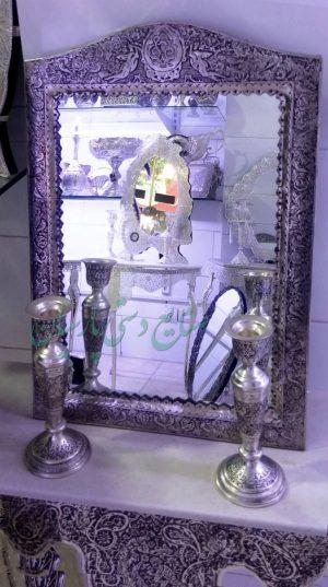قیمت آینه و شمعدان قلم گل و مرغ تاج آهو
