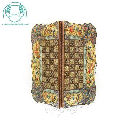 مرکز پخش تخته نرد و شطرنج خاتم کاری دالووری صدفی اصفهان