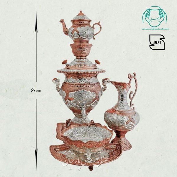 قیمت فروش سماور دکوری برنجی قلمزنی آبکاری مس و نقره اصفهان