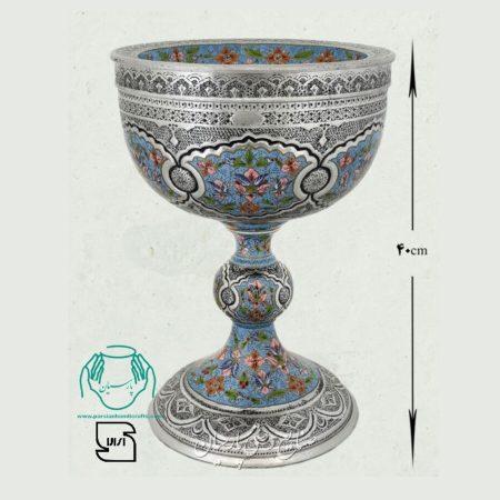 قیمت سنگاب مسی تلفیق هنر قلمزنی و مینیاتور اصفهان