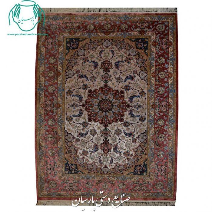 قیمت فروش قالیچه دستبافت دو کف ابریشم اصفهان