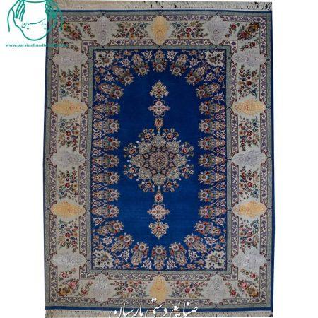 قیمت قالیچه گل ابریشم اصفهان نقش کف ساده