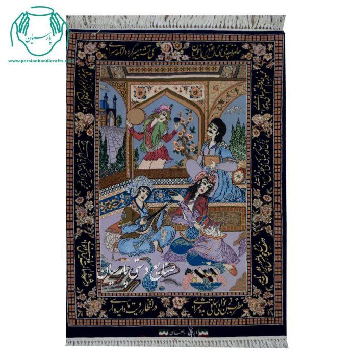 قیمت قالیچه دستباف ابریشم مینیاتور