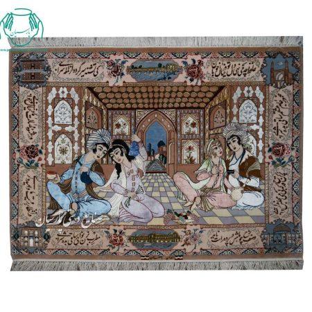 قیمت تابلو فرش مینیاتور افقی
