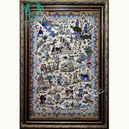 تابلو فرش نقشه ایلیات