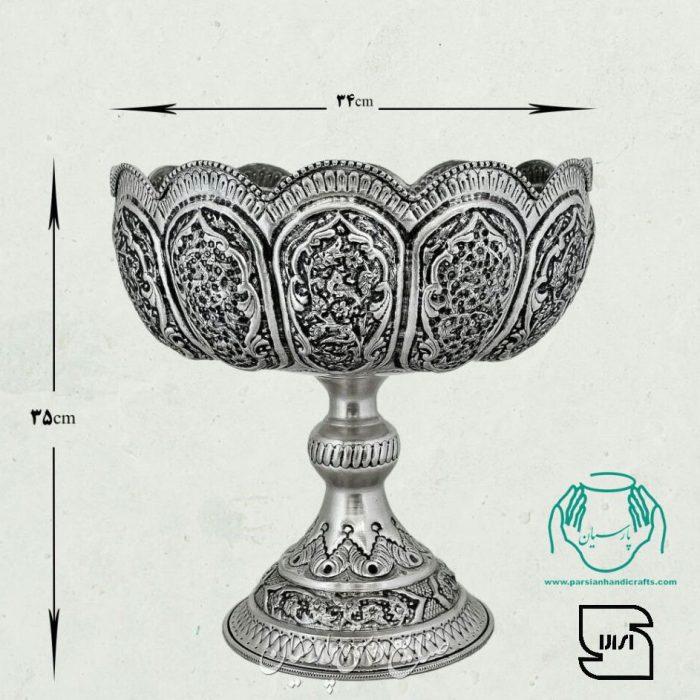 میوه خوری مسی قلمزنی سیاه قلم اصفهان