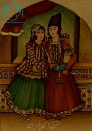 نقاشی عروس داماد قاجار