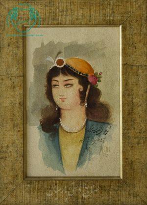 قیمت نقاشی آبرنگ تک چهره