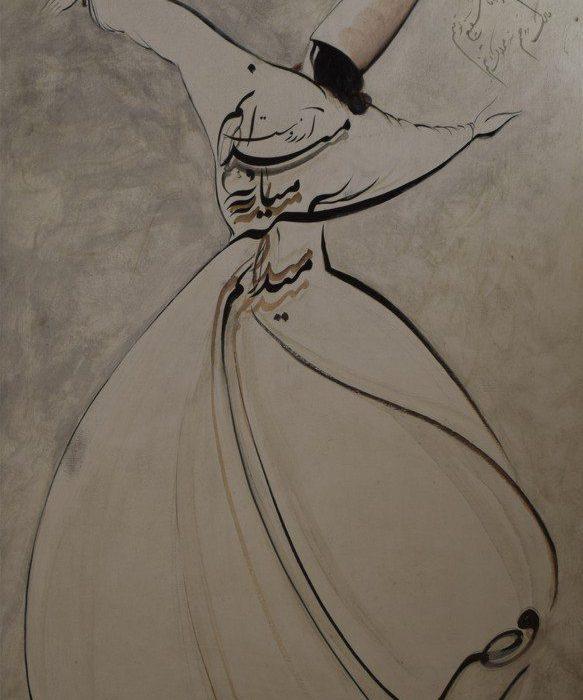 قیمت نقاشی ایرانی رقص سما