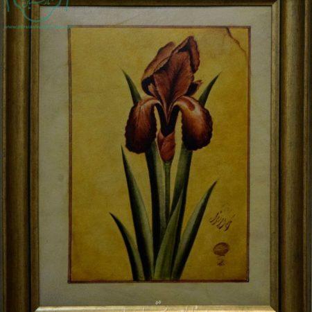 قیمت نقاشی گل زنبق روی چرم
