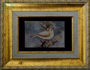 قیمت نقاشی ایرای گل مرغ روی چرم