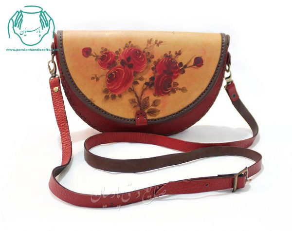قیمت کیف رو دوشی چرم رنگ قرمز