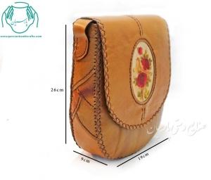 قیمت کیف رودوشی چرمی عسلی زنانه