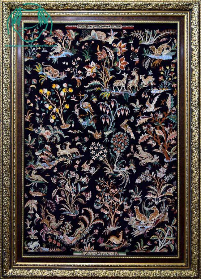 قیمت تابلو فرش زمینه مشکی