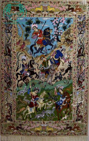 قیمت فرش نقشه شکارگاه اصفهان دو خفتی