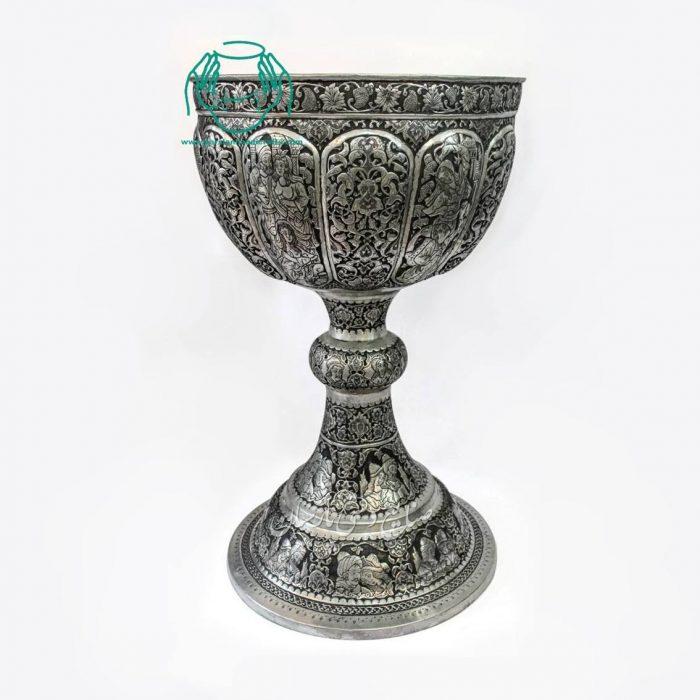 سنگاب قلمزنی سایز بزرگ ترکیب صورت و اسلیمی اصفهان