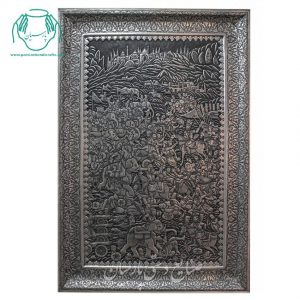 قیمت تابلو مسی جنگ چالدران قلمزنی سیاه قلم اصفهان