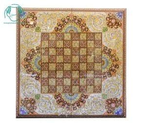 نمای تخته نرد شطرنج خاتم صدفی لب گرد اصفهان