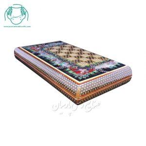 قیمت تخته نرد خاتم صدفی لب گرد نقاشی چوگان اصفهان