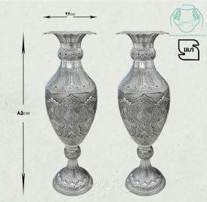 قیمت گلدان برنجی قلمزنی اب نقره اصفهان
