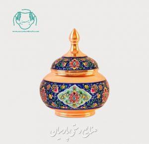 قیمت قندان بزرگ مس پرداز اصفهان