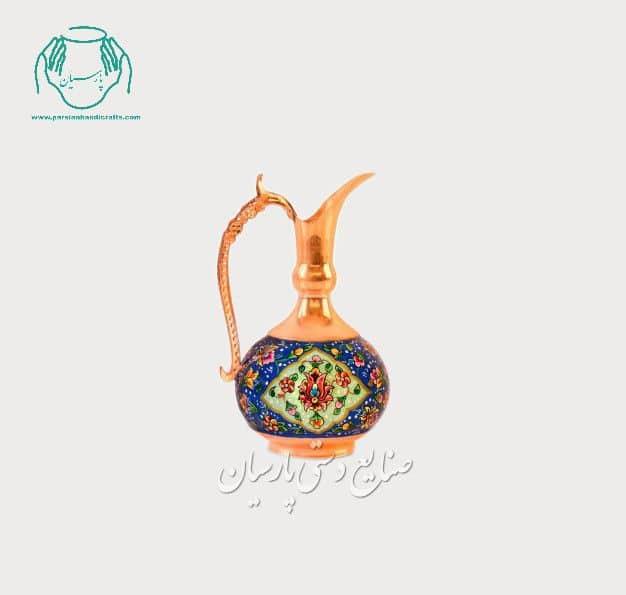 قیمت پارچ شلغمی مس پرداز سایز 15 صنایع دستی اصفهان