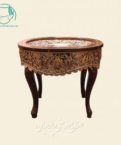 قیمت میز عسلی مسی قلمزنی صنایع دستی اصفهان
