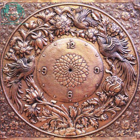 ساعت قلمزنی برجسته نفیس اصفهان