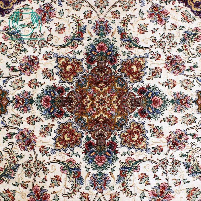 قالیچه کف ابریشم دوخفتی