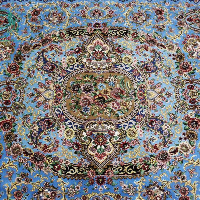 ترنج فرش دستبافت 12 متری لچک ترنج اصفهان