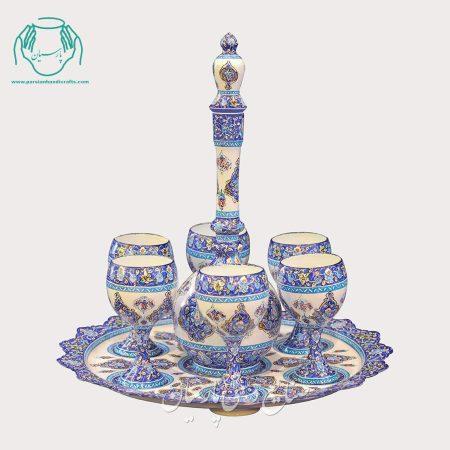 سرویس شراب خوری میناکاری اصفهان