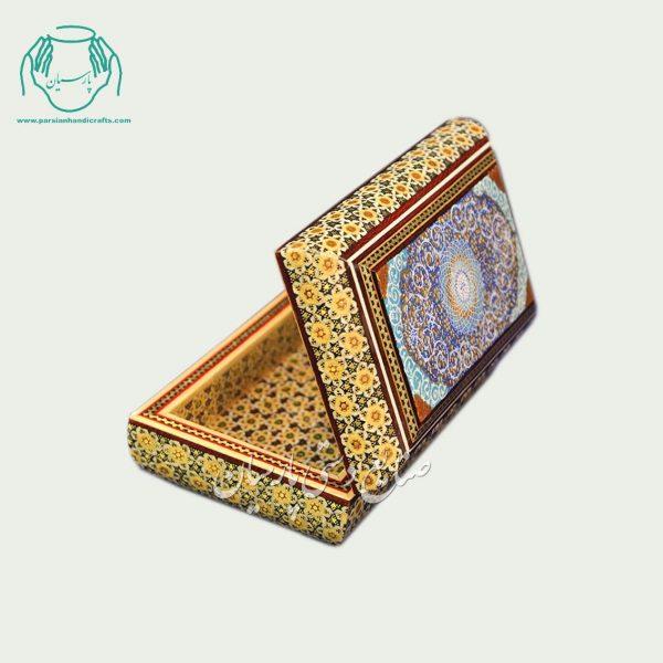جعبه جواهرات داخل خاتم نقاشی اسلیمی
