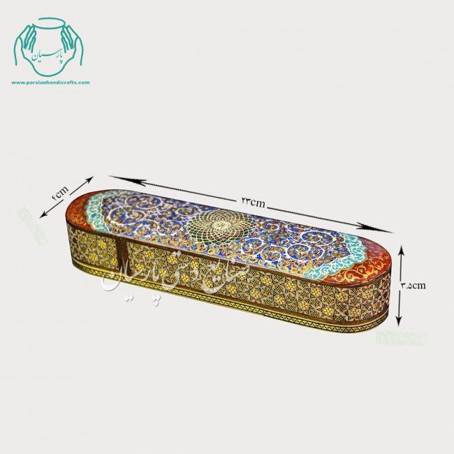 قلمدان خاتمکاری هفت شمسه نقاشی اسلیمی