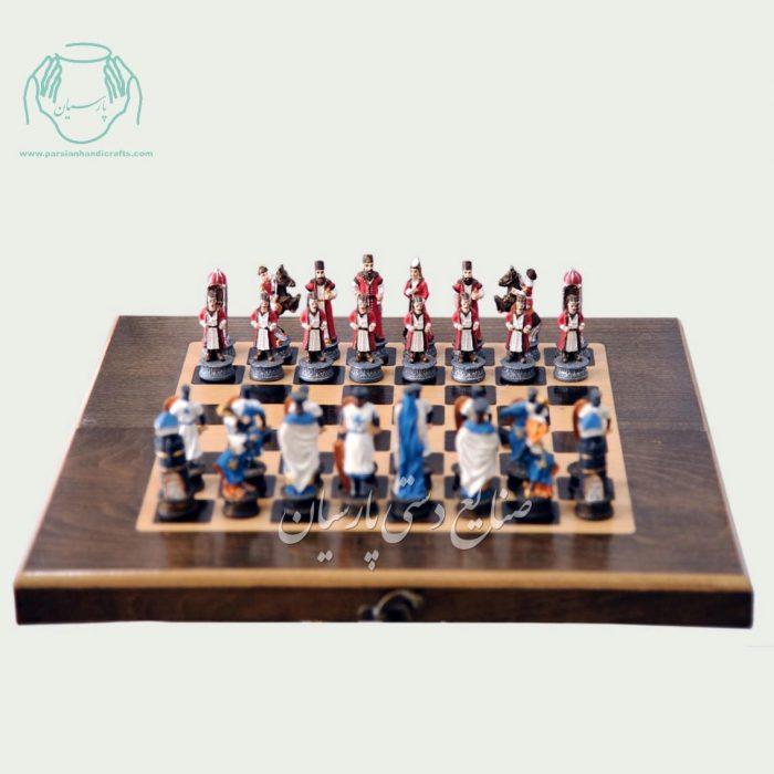 مهره شطرنج رنگي دست ساز متوسط