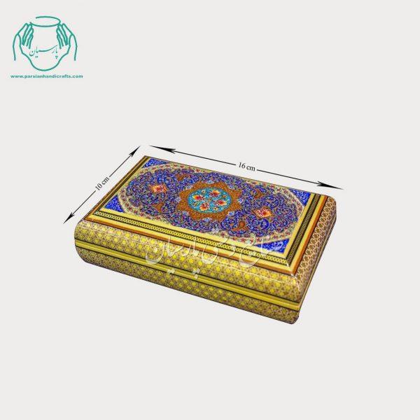 جعبه جواهرات خاتمکاری نقاشی تذهیب
