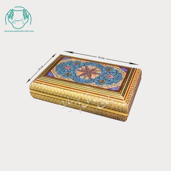 جعبه جواهرات خاتم نقاشی طرح اسلیمی