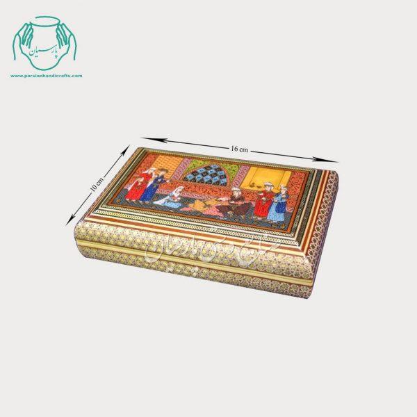 جعبه جواهرات خاتمکاری نقاشی استاد صوفیان