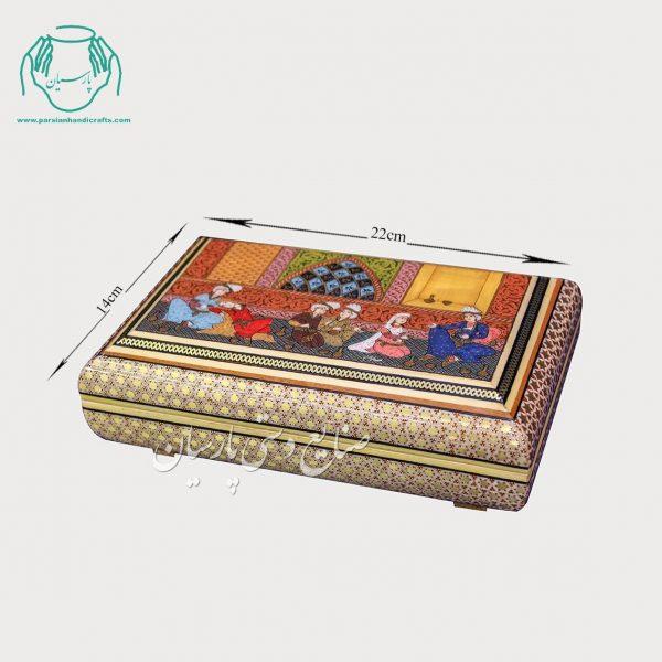 جعبه خاتم نقاشی استاد صوفیان