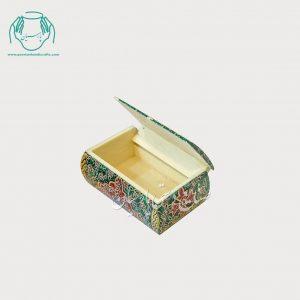 جعبه استخوانی کبریتی نقاشی گل مرغ طرح ریز