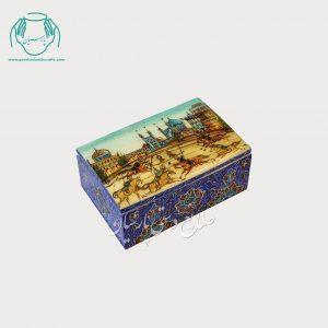 جعبه جواهرات طرح میدان امام اصفهان استخوانی کبریتی