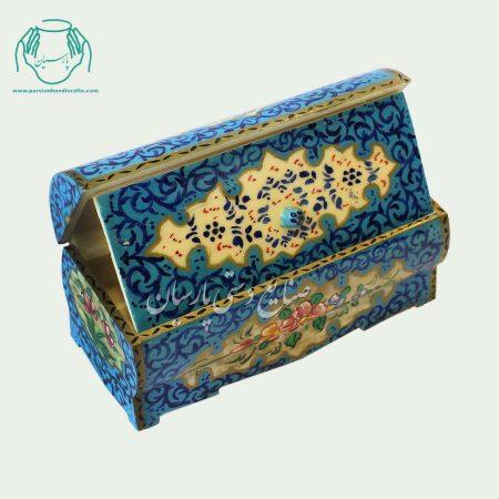 جعبه استخوانی نقاشی طرح گل