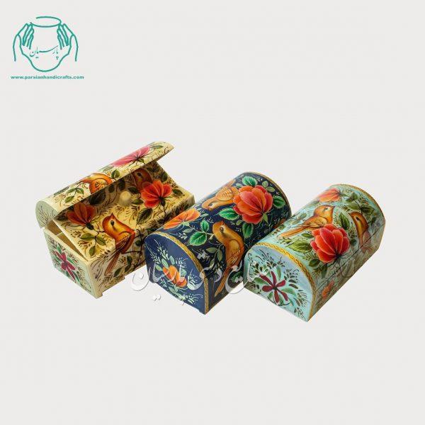 جعبه استخوانی 9 سانتی طرح گل مرغ ریز