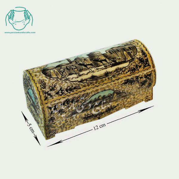 جعبه استخوانی جواهرات سایز بزرگ طرح گل مرغ
