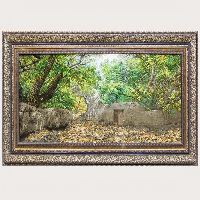 تابلو فرش کوچه باغ عرضی برجسته